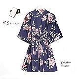 YUHOOE Damen Nachtwäsche Set,Frauen Satin Robe Kimono Nachtwäsche Lace Trim Pyjama Pyjama...