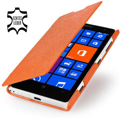 StilGut Exclusive Leathercase UltraSlim for Nokia Lumia 1020 in Book Type Style, orange