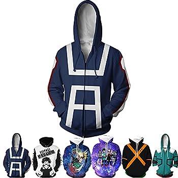 My Hero Academia Izuku Midoriya Hoodies Cosplay Costume Jacket Adult Unisex Bule/XXL