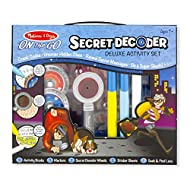 Melissa & Doug Secret Decoder Deluxe Activity Kit Activity Pad Travel Games 3+ Gift for Boy or Girl