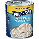 Progresso Rich & Hearty, New England Clam Chowder Soup, Gluten Free, 1.15 Pound (Pack of 12)