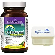 New Chapter Zyflamend Whole Body Joint Supplement, Herbal Pain and Inflammation Relief - 120 Vegetarian Capsules Bundle with a Lumintrail Pill Case