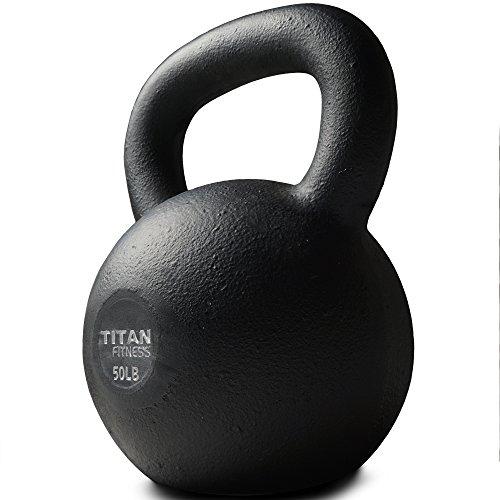 Titan Fitness Cast Iron Kettlebell 5-100 lb