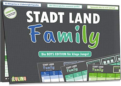 Kulinu Juego de sociedad – Ciudad, país, Family – Regalo para niños a partir de 8 años – Idea de regalo – Juego de noche para niños – Juego familiar de viaje – 100% fabricado en Alemania
