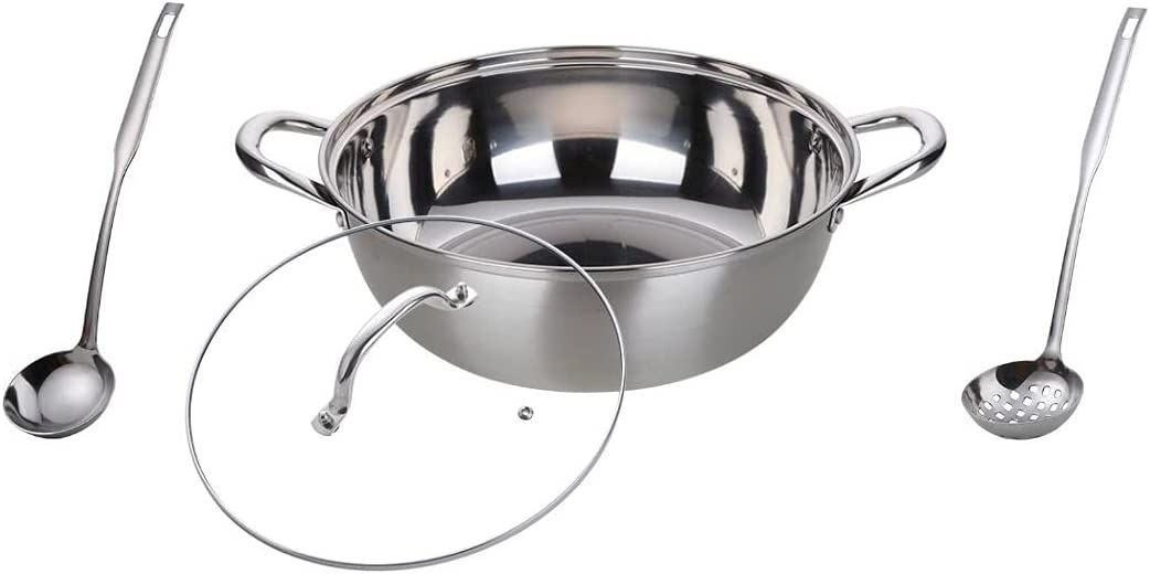 5.7Qt Purchase Stock Pot with Year-end gift Glass Lid Color Stee 8 12In Me Stainless 18