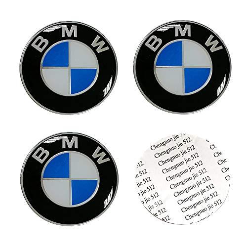 DIYcarhome 4PCS 65mm/2.56inch Auto Car Sticker Wheel Center Hub Cap Logo Aluminium fit for BMW