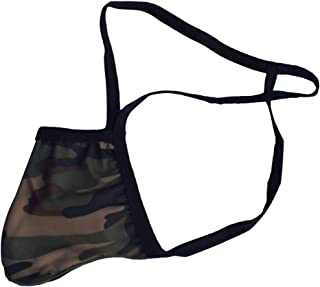 D DOLITY Classic Camouflage T-Back Briefs Underwear, Low Cut Bikini G-String Thong Briefs Swimsuit for Men