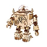 ROKR ロボットオルゴール 立体パズル 木製おもちゃ ミュージックボックス 音楽ボックス 知育玩具 想像力 手作り かわいい プレゼント クリスマスプレゼント 誕生日 ギフト 贈り物