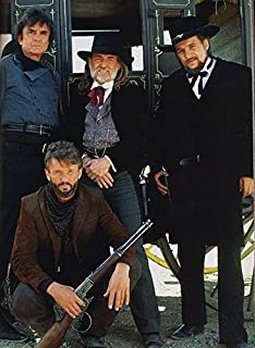 8 x 10 Aluminum Tin Sign The Highwaymen Images Johnny Cash Willy Nelson Waylon Jennings A mostly Art Stuff Product