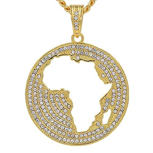 Kkoqmw Collares Pendientes de Mapa de África