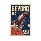 Beyond The Solar System Retro-Reise-Poster, dekoratives