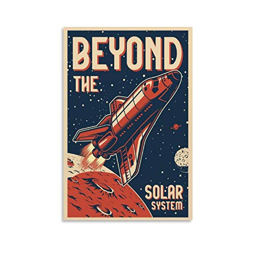 Beyond The Solar System Retro-Reise-Poster, dekoratives Gemälde, Leinwand, Wanddekoration, Sammlerstück Vintage-Poster, 60 x 90 cm