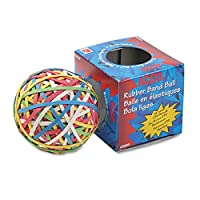 ACCO Rubber Band Ball, 275 Bands Per Ball, Assorted Colours, 1/Box (72155) (2)
