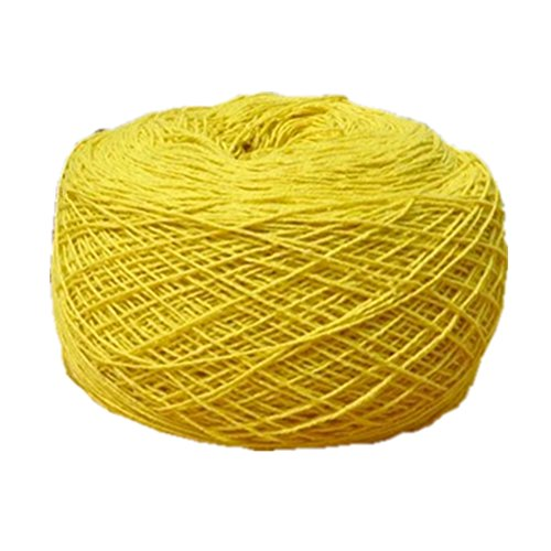YoumeHome Cotton Crochet Thread 1mm 680 Meters for Handmade DIY (Yellow)
