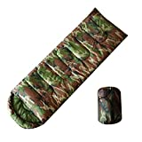 Temporada de dormir olayer, diseño de camuflaje, 3sobre de relleno de algodón con capucha del Ejército de estilo militar Sacos de dormir