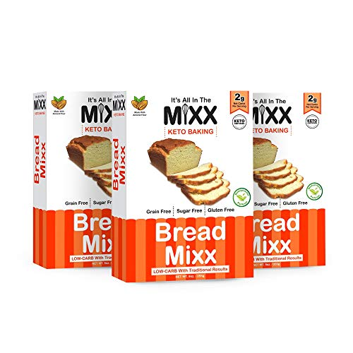Bread Mix Pack of 3 Perfect Keto Certified Low Carb Baking Mixes with Almond Flour - It's All In The Mixx