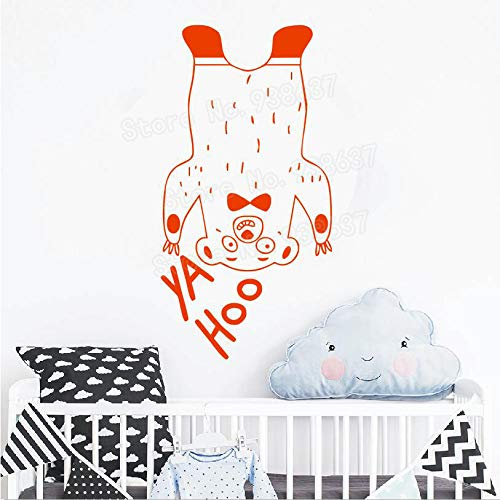 Geiqianjiumai Funny Bear Sticker Wall Art Muursticker zelfklevend Wall Decal Animal Decal