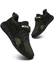 [WYSBAOSHU] スニーカー キッズ 子供靴 運動靴 男の子 軽量 通気 柔軟 滑り止め スポーツシューズ 通学履き カジュアルシューズ クッション性 メッシュ