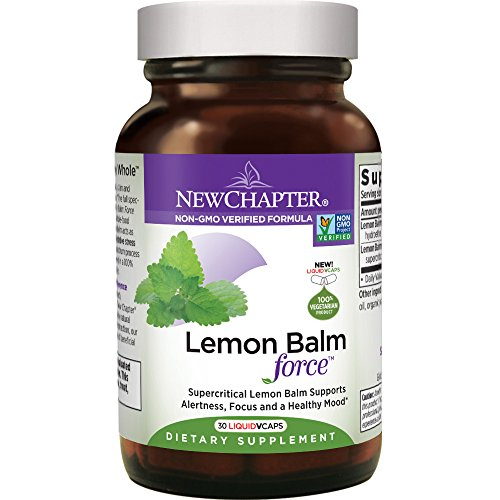 New Chapter Mood Support Supplement - Lemon Balm for Mood Support + Sleep Aid + Stress Relief + Non-GMO Ingredients - 30 ct Vegetarian Capsules