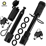 """motormic Trailer Hitch Lock Pin Set - 2pcs. 5/8' Extra Long Black Pins with 2 Locking Systems, 2 Safety Clips, 10 Anti Rattle O-Rings – Tow receivers 2"""" and 2.5 inch (Class III,IV,V)"""