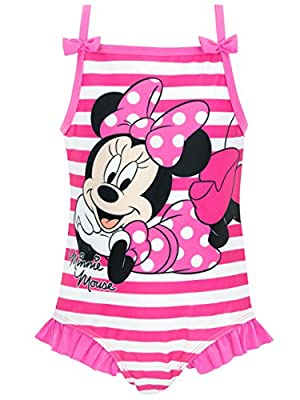 Disney Minnie Mouse Girls Minnie Mouse Swimsuit 6 Pink
