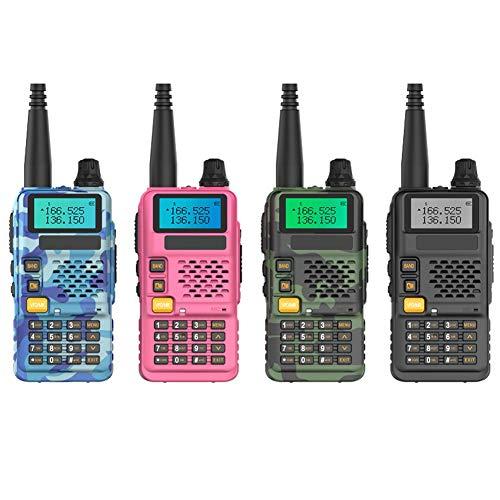 XAOBNIU 2 baterías Recargables walkie Talkie radios de Dos vías de Largo Alcance con el Cargador portátil Walky Talky for Acampar (Color al Azar) PMR446 8 Canales