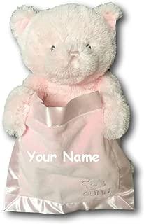 Personalized GUND Animated Pink Peek-A-Boo Teddy Bear Plush Stuffed Toy Animal