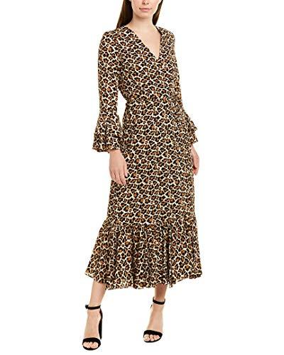 Diane von Furstenberg Womens Madeline Dress, S, Brown