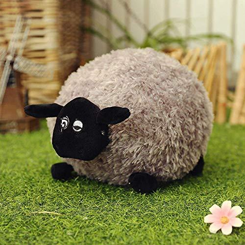 ADIE Plüschtier Teddy Spielzeug, kleine süße Schafe, weiß/grau Teddy gefüllt, süßer weicher Teddy-Puppite, Kinderfreund-Geschenk (30.12.40 / 50cm) 30 cm grau, Größe: 40cm, Farbe: weiß