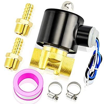 Tailonz Pneumatic 3/8 Inch NPT 12V/24V/110V/220V Brass Electric Solenoid Valve 2W040-10 Normally Closed Water, Air, Diesel from TAILONZ PNEUMATIC