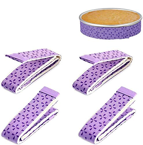 4-Piece Bake Even Strip,Cake Pan Strips,Super Absorbent Thick Cotton,Cake Strips for Baking,Cake Pan Strips