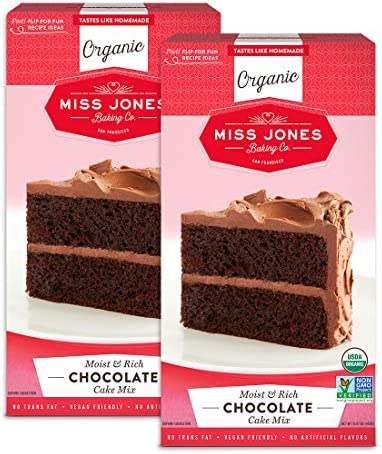 Miss Jones Baking Organic Cake and Cupcake Mix Non GMO Vegan Friendly Moist and Fluffy Chocolate product image