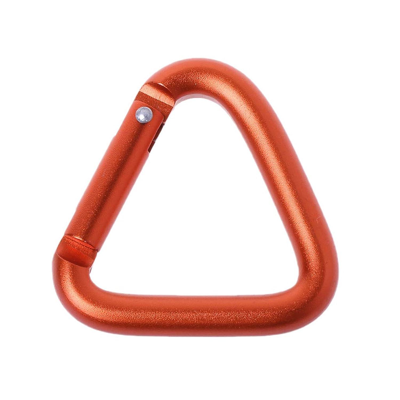 Dabixx Triangle Carabinerアウトドアキャンプハイキングキーホルダースナップクリップフックケトルバックルオレンジ1