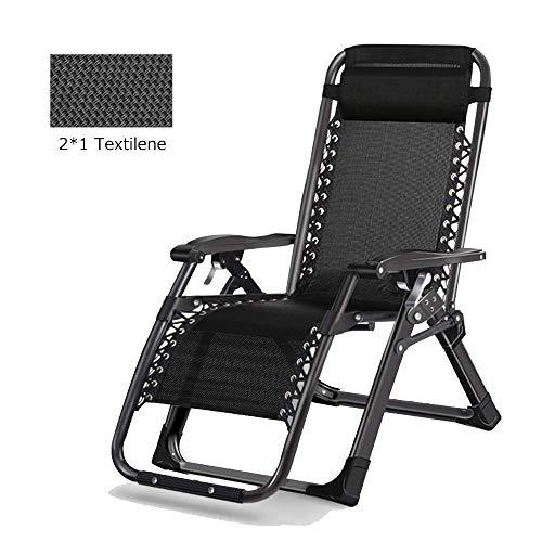 Chaise Longue Fauteuil pliant à Teslin Relax Jardin Bain de soleil réglable en plusieurs positions terrasse, balcon, salon plage chaise portable chaise de plage, 2 couleurs (Couleur, Argent),noir
