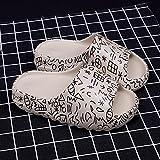 ypyrhh Baño Sandalia Suela De Suave,Zapatillas de Fondo Grueso, Pareja de Esponja bebé dragón Rojo-Fashion White_44-45,Verano de Las Mujeres Casual Chanclas