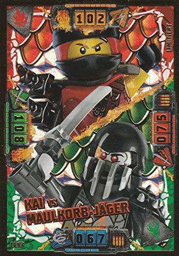 Blue Ocean Lego Ninjago Serie 4 Trading Card LE13 Kai vs Maulkorb-Jäger