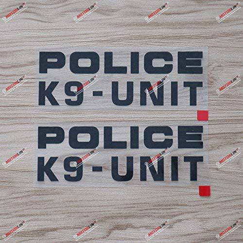 2X Black 6'' Police Dog K9 K-9 Unit Letter Decal Sticker Car Vinyl no bkgrd die Cut