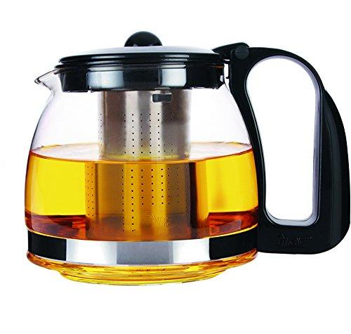 Moderne Teekanne aus Glas 700 ml Teebereiter Teekocher Tee Kanne Tee Bereiter