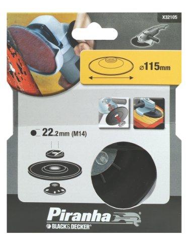 Piranha Flexon schuurschijf, 115 mm schijfdiameter, 22 mm spilschroefdraad, voor haakse slijpers 115 mm