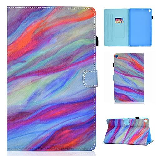 YYLKKB para Samsung Galaxy Tab A SM T510 T 510 515 Caja de la Tableta Pintada de Mariposa Linda para Samsung Galaxy Tab A 10.1 2019 Caso-Mármol_