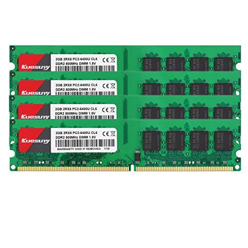 Kuesuny 8GB Kit (2GBX4) DDR2 800 Udimm RAM