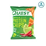 Quest Nutrition Tortilla Style Protein Chips, Chili Lime, Low Carb, Gluten Free, Baked, 1.1 Ounce...