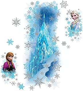 RoomMates Disney Frozen Ice Palace With Else And Anna Peel And Stick Giant Wall Decals