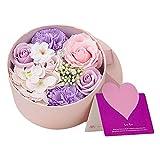 ANBET cadeau de fleur pour les femmes bouquet de savon avec boîte cadeau cadeau femme pour la Saint-Valentin, fête des mères, anniversaire, mariage