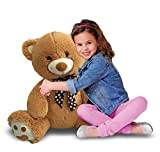 CUDDALICIOUS Animal Plush Bear - 60 Inch Giant Lifelike Soft Inflatable Bear Buddies Toy 5 Feet Tall