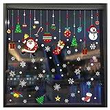 LXCDCH 2 Set Adesivo in PVC Adesivo Statico Invernale Immagini delle Finestre di Natale Vetrofania Decorazione Natalizia Utilizzato per Porte Vetrine di Finestre Decorative
