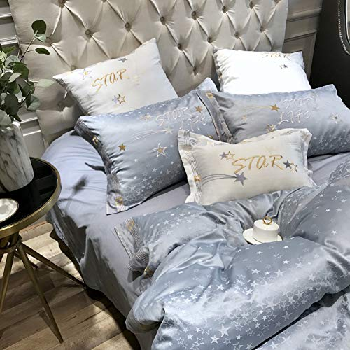Affordable UOUL Bedding Set Cotton Satin 7pieces 60s High Density Luxurious Soft Breathable Suitable...