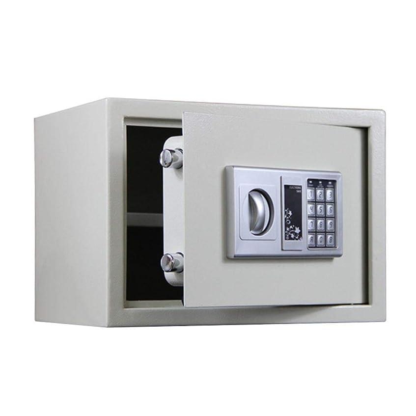 種タールマディソン金庫 キーパッドのためにジュエリー金貴重品白でデジタル電子スチール金庫&ロックボックス 家庭用金庫 (Color : White, Size : 35x25x25cm)