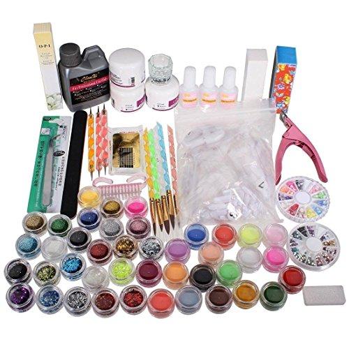 TOOGOO(R)Nailart Sets Nagelpflege Nageldesign Nagel Acryl Pulver Pinsel Glitter Tip Werkzeuge