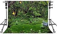 HD緑の森の背景蝶のおとぎ話10X7フィートの写真の背景をテーマにしたパーティーの写真ブースYouTubeの背景MMT060